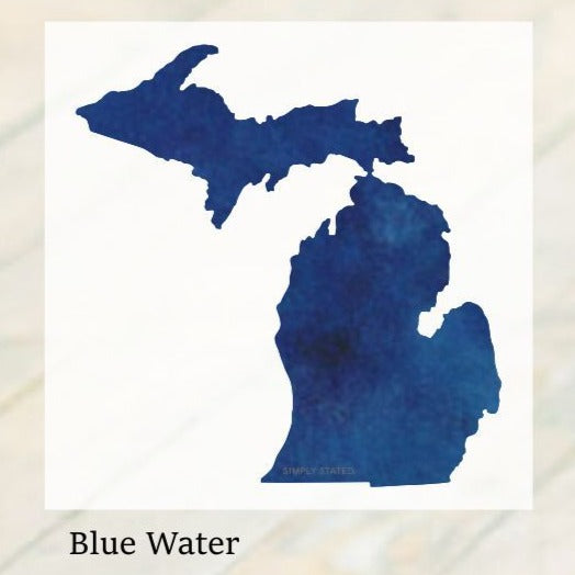 Decal  //  Michigan  ~  Blue Water Michigan Decal