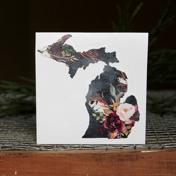 Decal  //  Michigan  ~  Woodland Whisper Floral