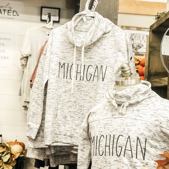 Apparel //  Michigan ~  #raedunn Cowl Sweatshirt