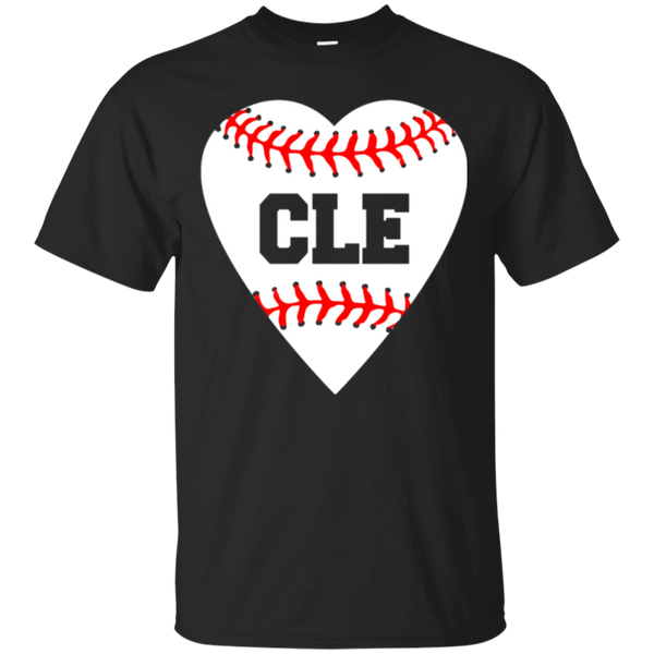 Cleveland Ohio Baseball Love Heart CLE T-Shirt