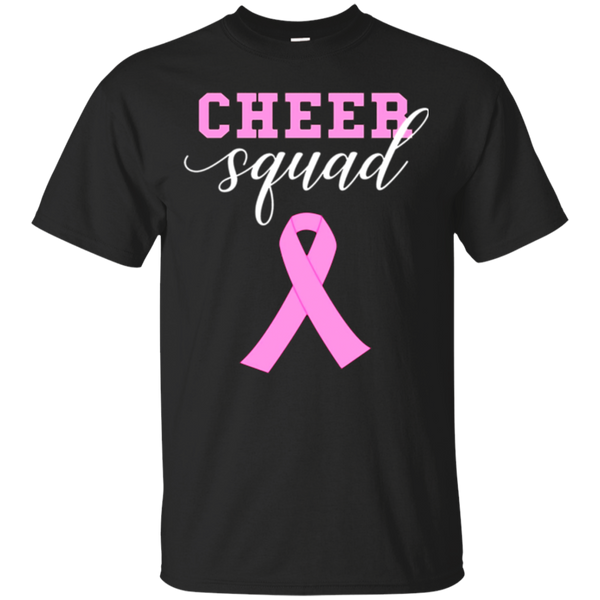 Pink Ribbon Breast Cancer Cheer Squad Cheerleading T Shirt