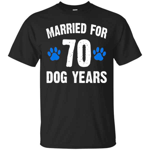Married For 70 Dog Years 10th Wedding Anniversary T-Shirts