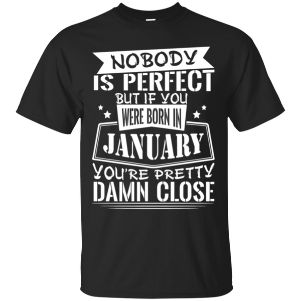 Born in January T Shirts for Mens & Womens