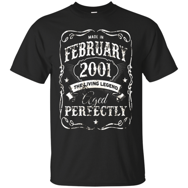 Vintage Made In February 2001 Shirt 17th Birthday Gift