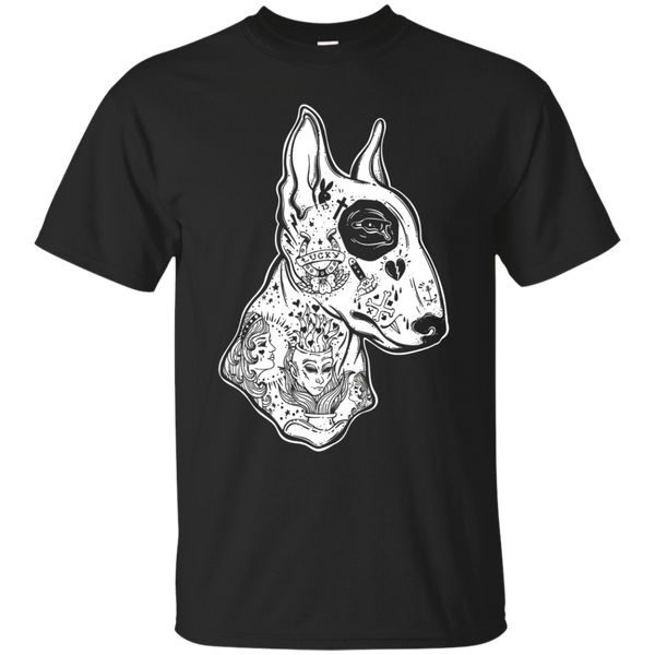 Inked Bull Terrier TShirt - Old School Tattoo Funny Dog Tee