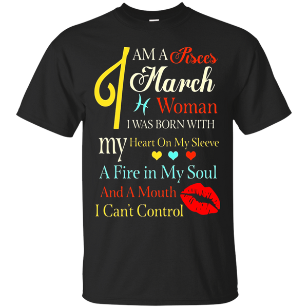 I Am A Pisces March Woman Retro Zodiac Signs T-Shirt