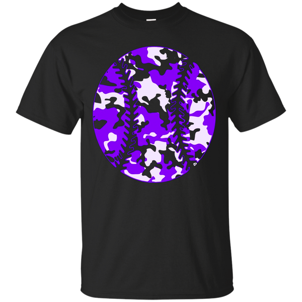 Camouflage Baseball Shirt - Purple Camo Baseball T-Shirt