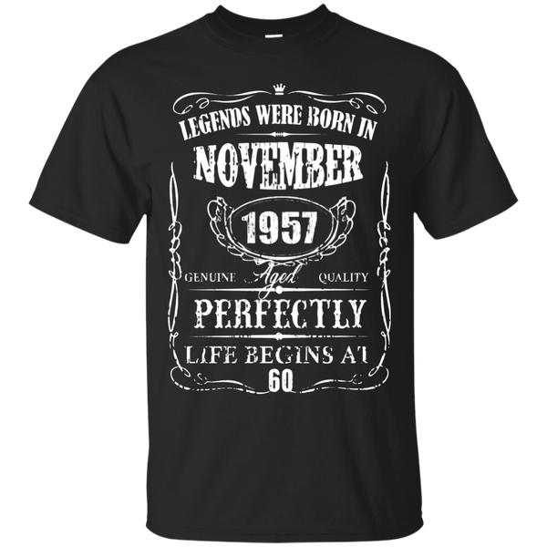 Legends Were Born In November 1957-60th Birthday Gift Shirt