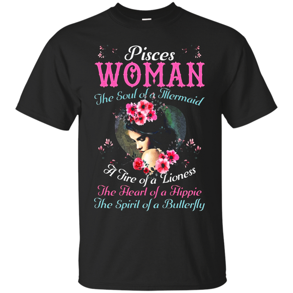 Pisces Woman Is The Mermaid Soul Hippie Heart T-shirt