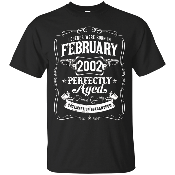 Legends Were Born In February 2002 Shirt Sweet 16th Birthday