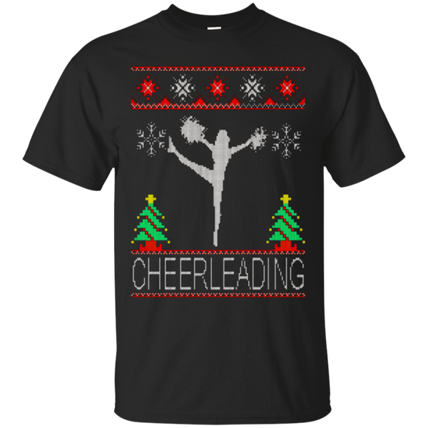 cheerleading ugly shirt Christmas