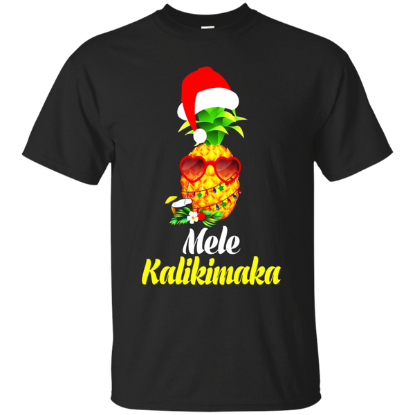 Hawaii Mele Kalikimaka Pineapple Hawaiian Christmas T-Shirt