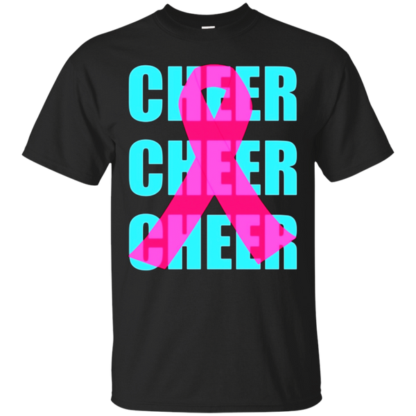 Pink Ribbon Breast Cancer Awareness Cheerleading Cheer Shirt
