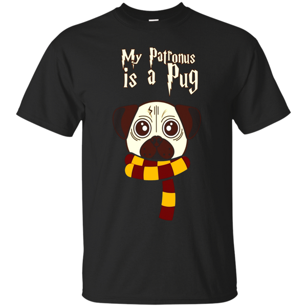 My Patronus Is A Pug T Shirts Funny Dog Gifts Wizard