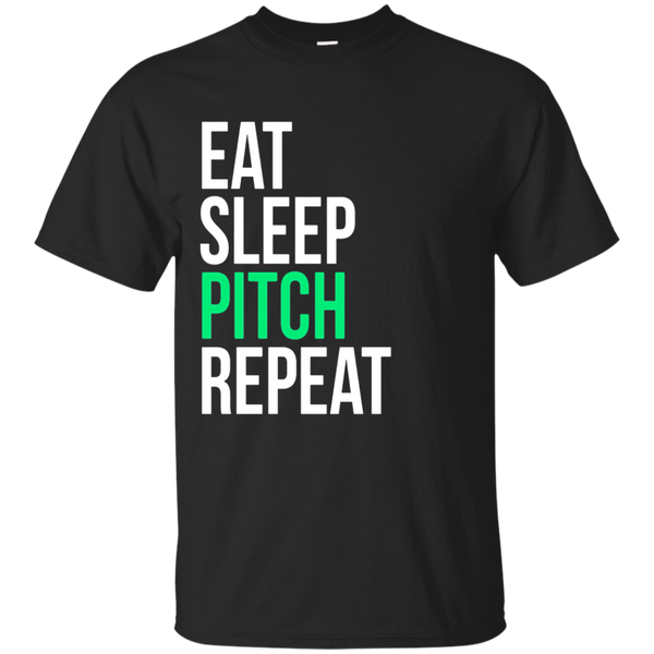Eat Sleep Pitch Repeat Baseball Softball T-Shirt
