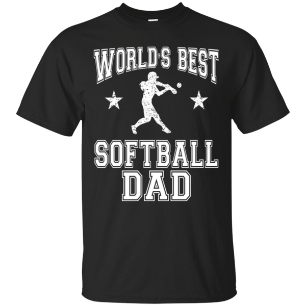 World's Best Softball Dad Baseball Father's Day T-Shirt