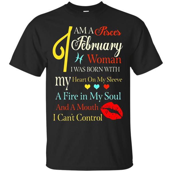 I Am A Pisces February Woman Retro Zodiac Signs T-Shirt