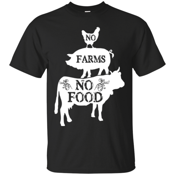 No Farms No Food Shirt Vegan Shirt - Pig Cow Chicken Shirt