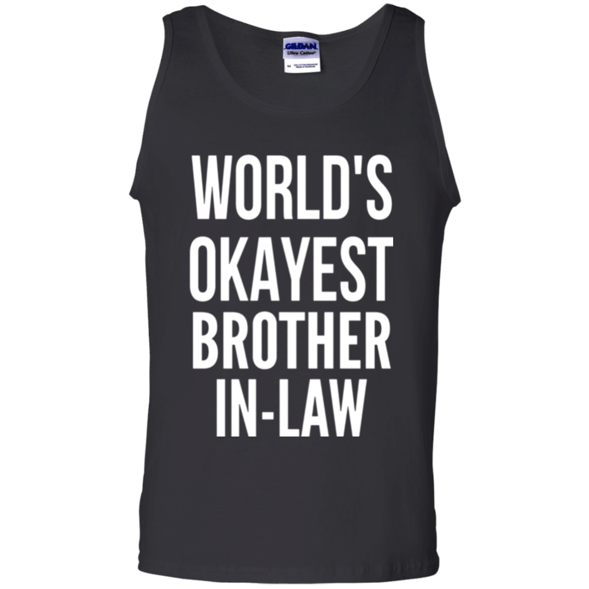 Mens World's Okayest Brother In Law Funny Christmas Gift Shirt