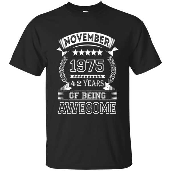 42 Year Old T-Shirt. Gift for Birthday November 1975 Tee