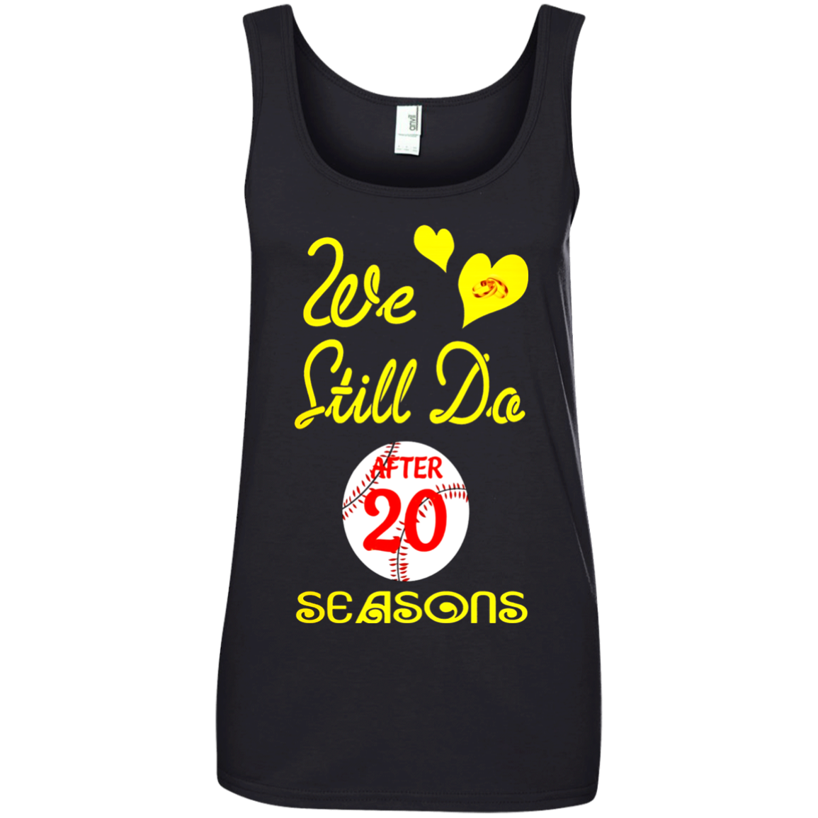20th Wedding Anniversary Tshirt We Still Do-baseball Couples