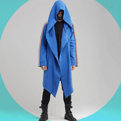 Funky's Grim hooded long Steel Blue Cloak