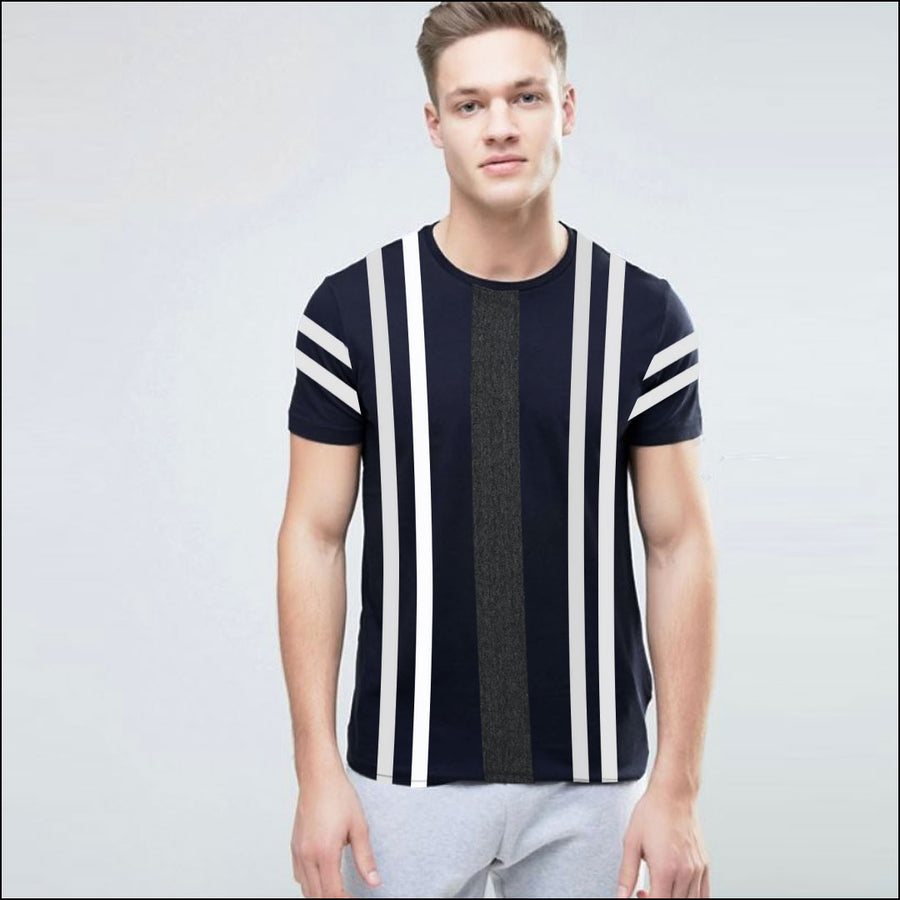 FUNKY'S WIDEST STRIPES CONTRAST COLOR T-SHIRT