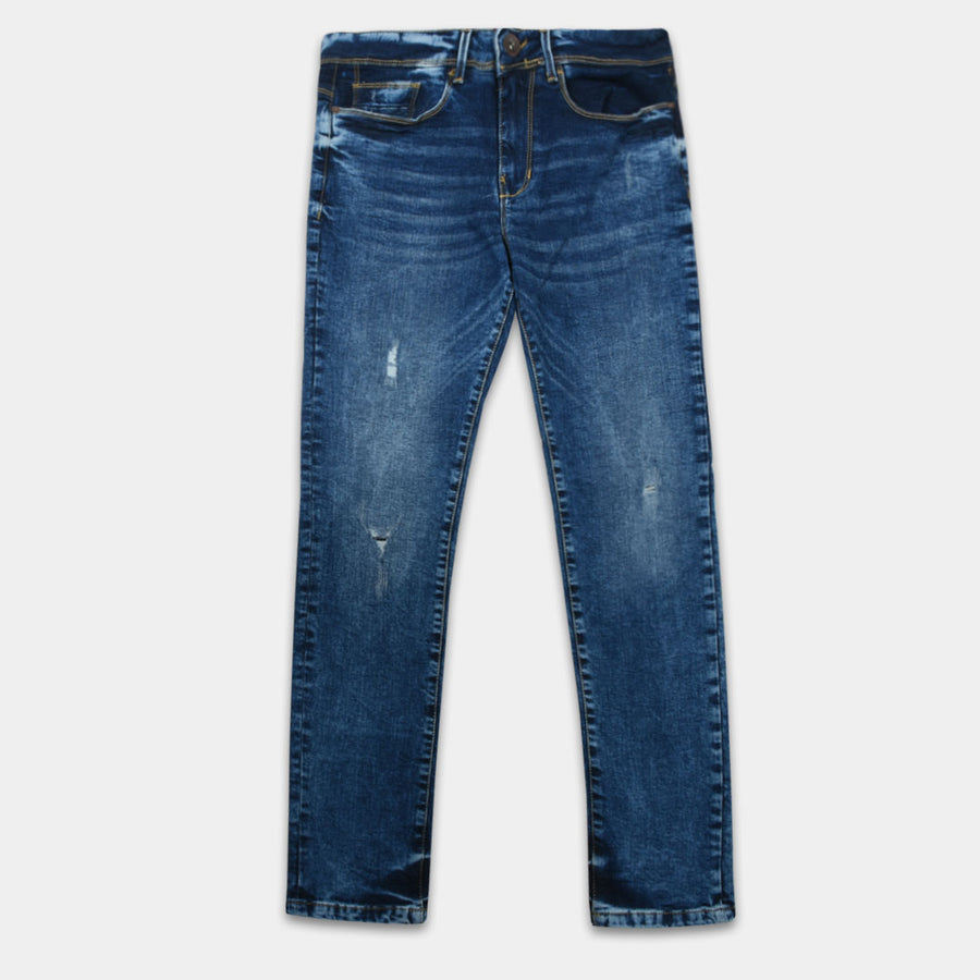 J.HB Ripped Prussian Blue Flex Denim
