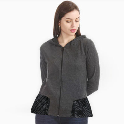 Women Essential Charcoal Fashion Jacket