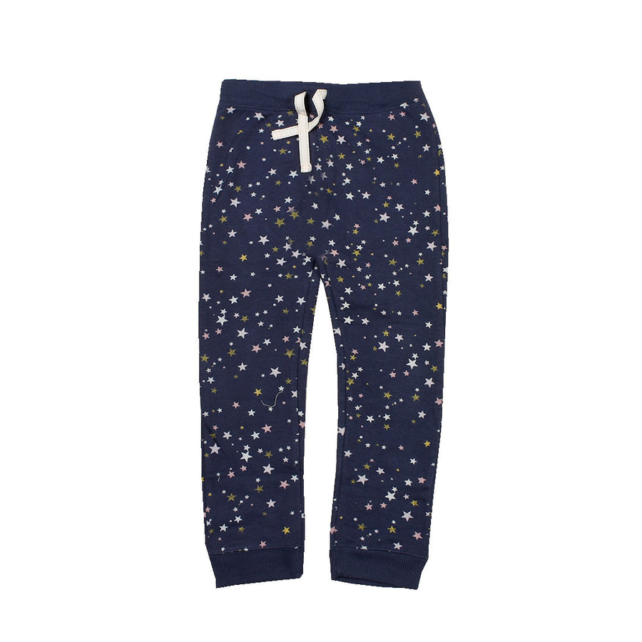 Girls Galaxy Star Navy Trouser