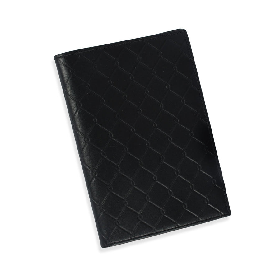 TRI-FOLD BLACK LEATHER WALLET