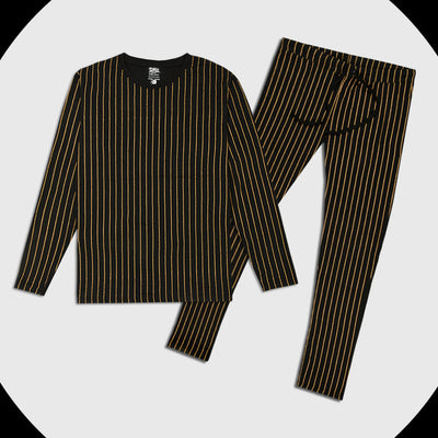 Funkys Printed Stripe Women Full Sleeves Night Tracksuit (with minor fault)