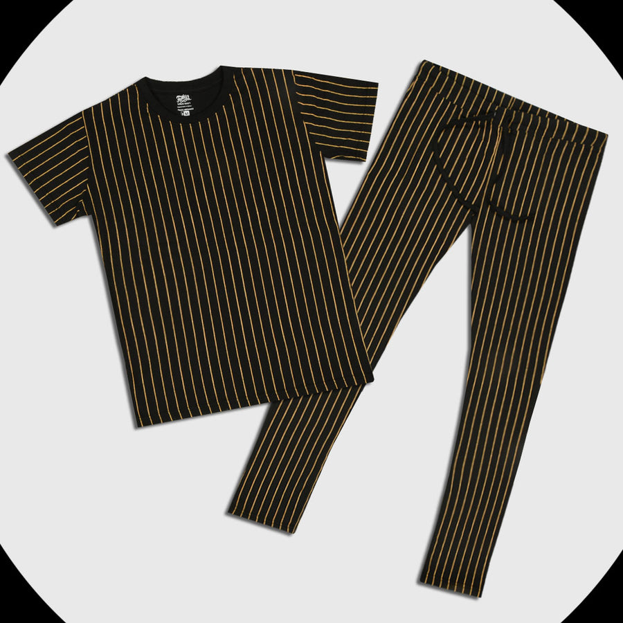 Funkys Printed Stripe Men's Night Tracksuit (with minor fault)