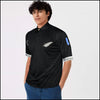 Rugby Black T-Shirt with White Feather Logo