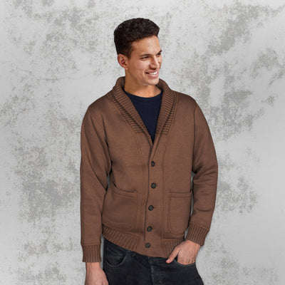 Elegant Camp Collar Cardigan
