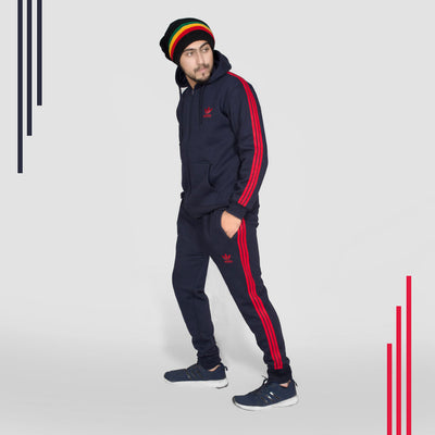 ADS NAVY RED STRIPED TRACK SUIT