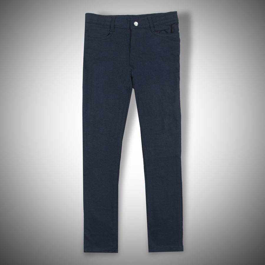 Girls Frech terry Flex Navy pant