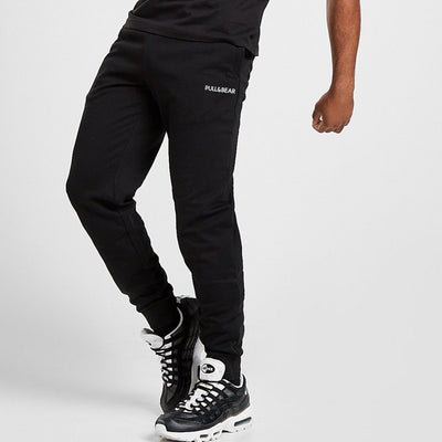 French Summer Terry Black Jogger Pants