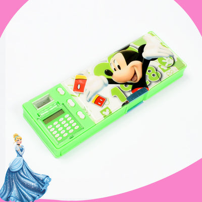 KIDS MICKY MOUSE GEOMETRY BOX WITH CALCULATOR