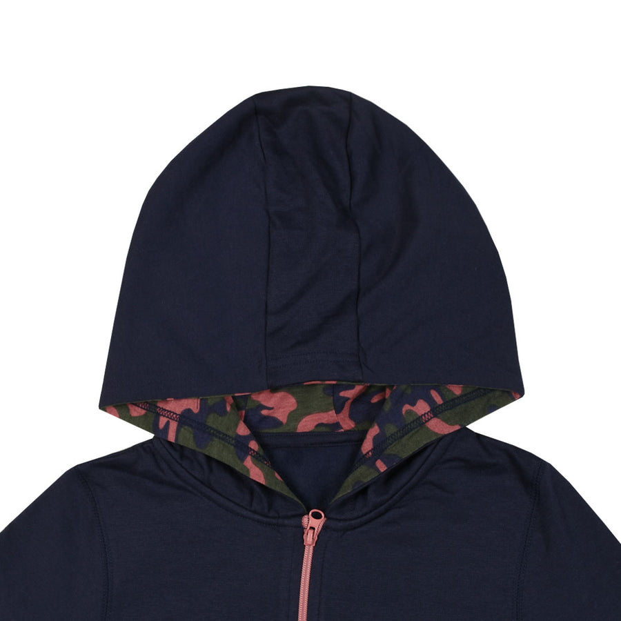 Rock n Roll Kid's Navy Hoodie (5 YEARS TO 14 YEARS)