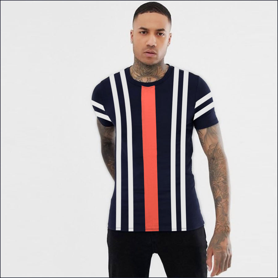 FUNKY'S AWNING STRIPES CONTRAST COLOR T-SHIRT ( WITH MINOR FAULT)