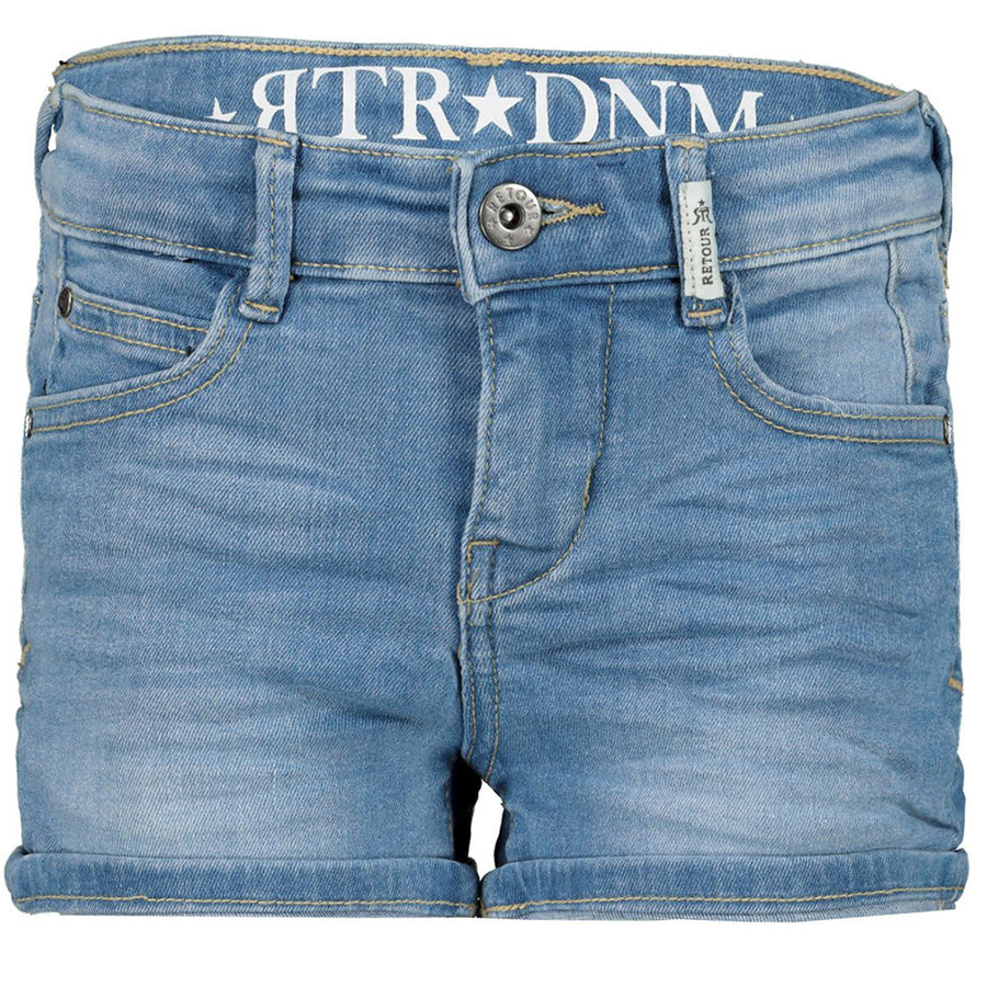 Mid Length Rtr Girls Stretch Denim Shorts
