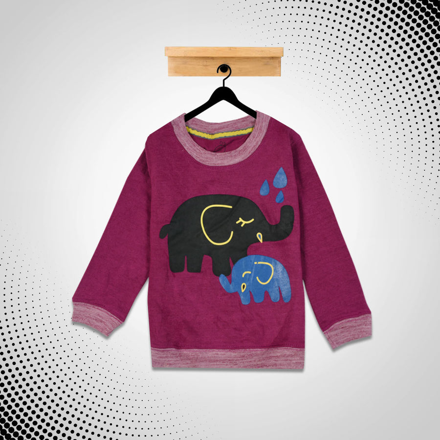kid's Elephant Printed  SweatShirt (1 YEARS to 12 YEARS)