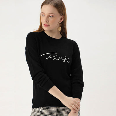 Women Paris Printed Sweatshirts (From M Size to Plus Sizes)