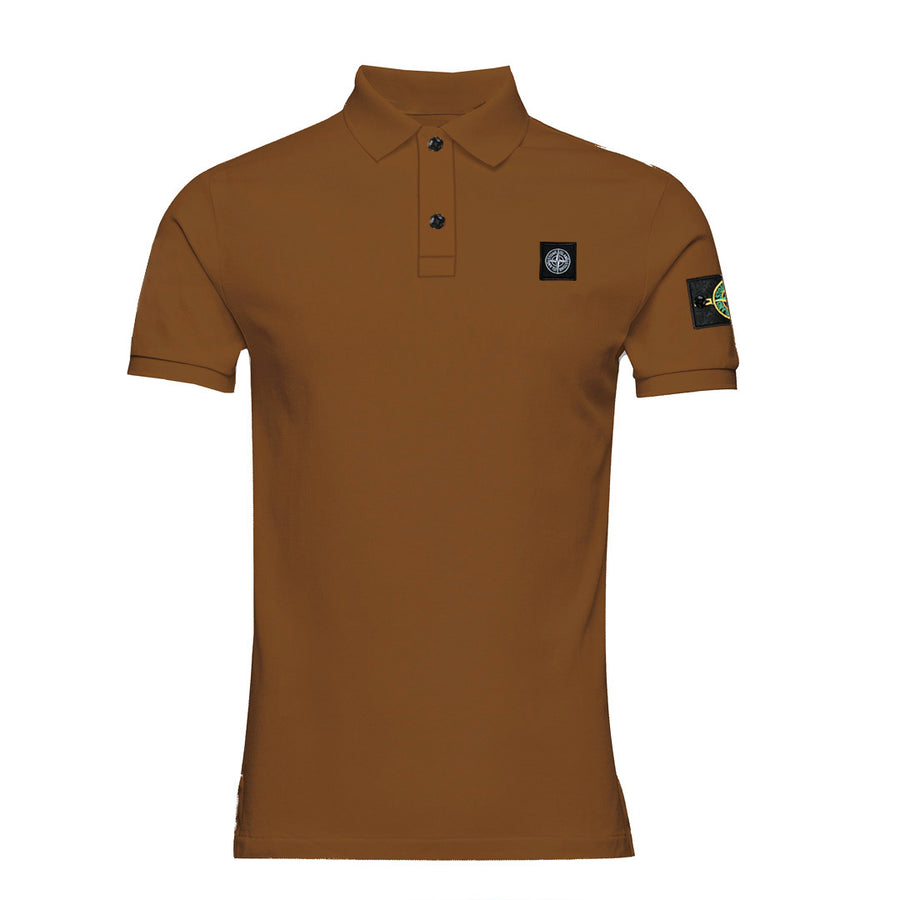 Flex Trait Dark Brown Polo