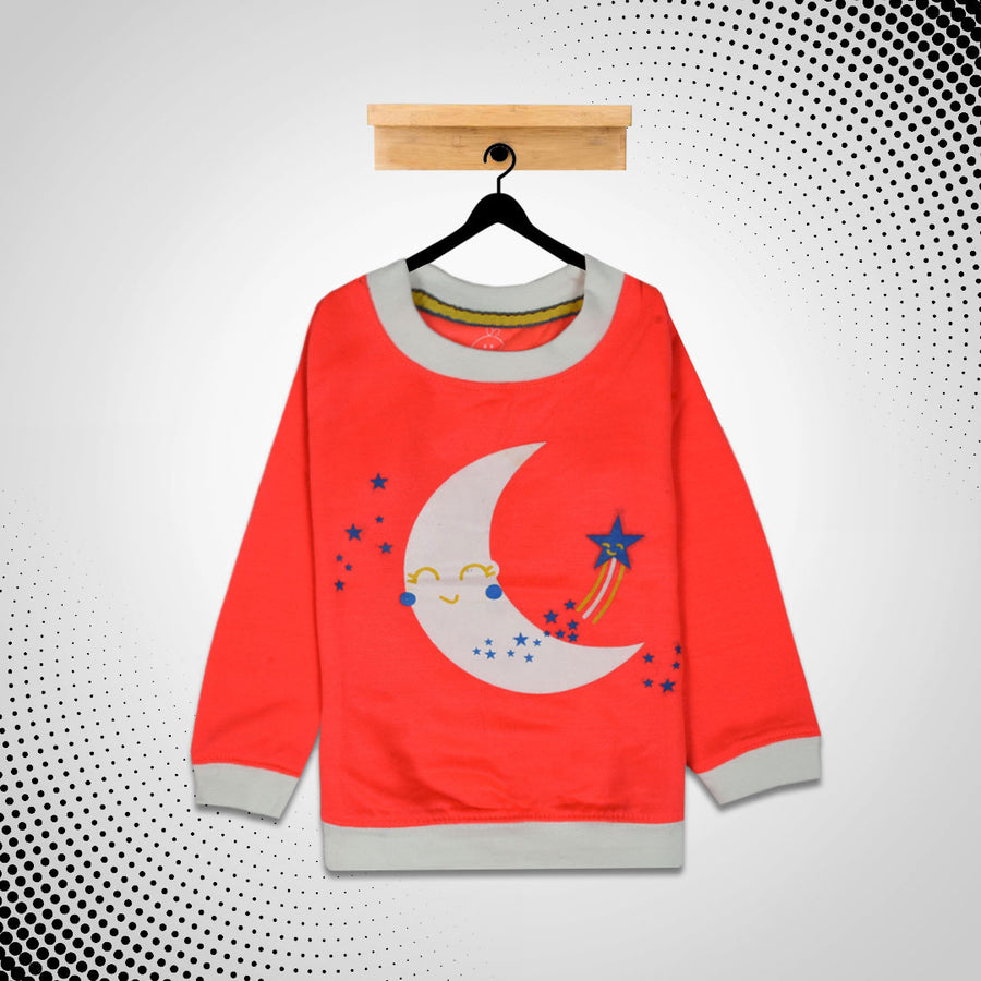 kid's Moon Star Printed SweatShirt (1 YEARS TO 12 YEARS)