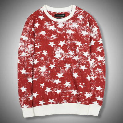 Cracked star ZR Red sweat shirt