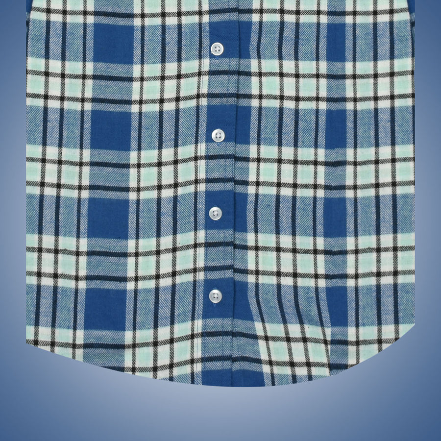 Women Flannel Blue Daily Wear Shirt