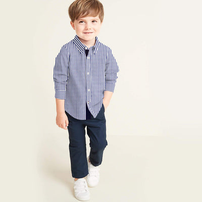 Funkys Kids Cotton Stripe Shirt (2 Years To 14 Years)