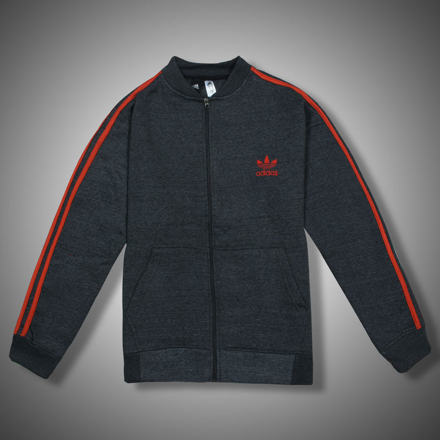 Charcoal 3 STRIPES HEAVY FLEECE TRACK SUIT